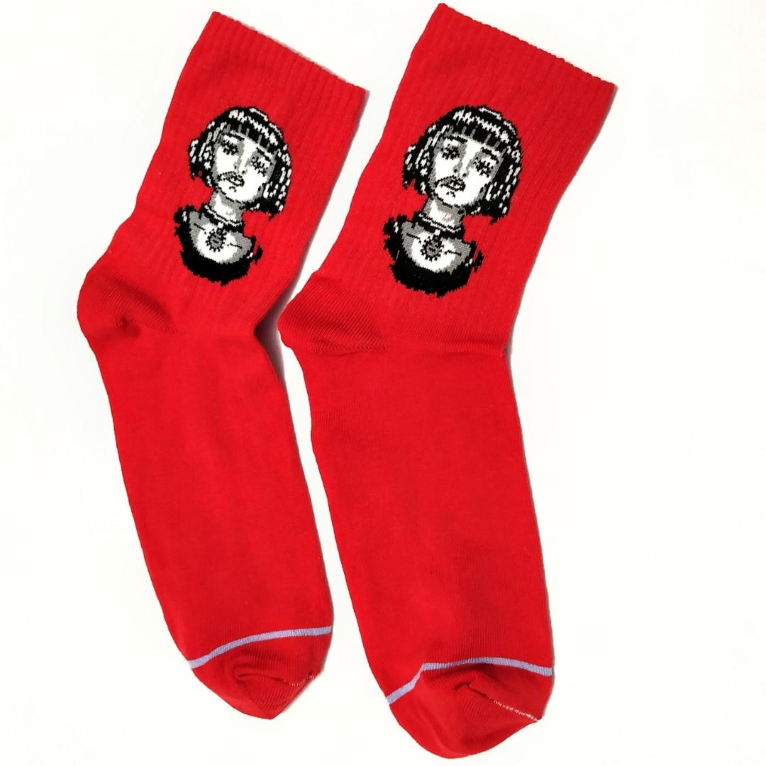Яскраві барвисті шкарпетки з принтом Матильда Crazy Llama's