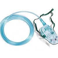Маска киснева для дорослих з кисневою трубкою (довжина 2,5 м) Праймед