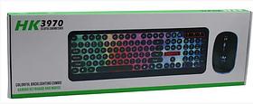 Комплект дротова клавіатура ігрова LED і миша HLV HK3970 6947 Black