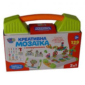 Мозаїка-конструктор дитячий з шуруповертом Limo Toy M5480 129 шт Green