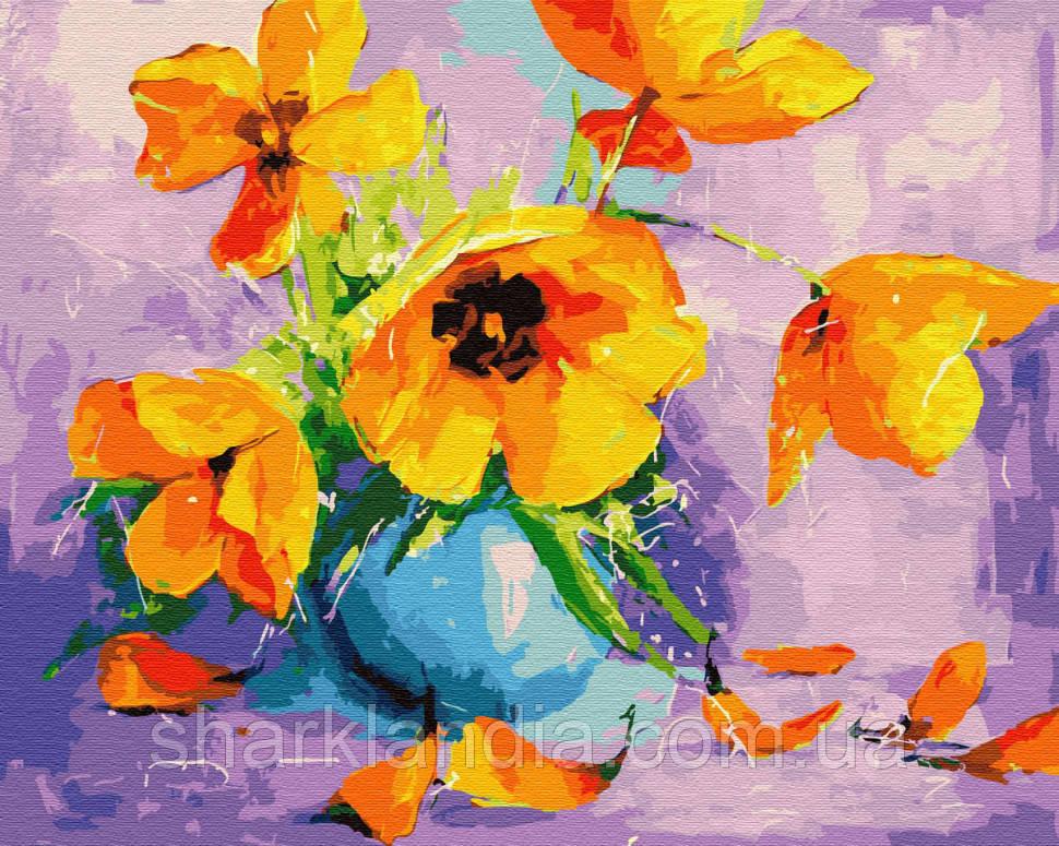 Картина за номерами Brushme Жовті тюльпани у вазі GX28709