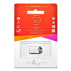 Флешка T&G Flash Draiv 4GB USB 2.0 Silver