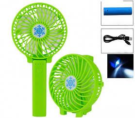 Портативный USB мини-вентилятор с аккумулятором Portable Mini Fan S02 Green