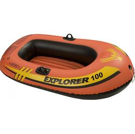 Лодка надувная одноместная Intex 58329 EXPLORER 100 Orange