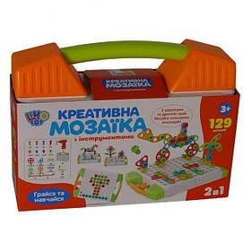 Мозаїка-конструктор дитячий з шуруповертом Limo Toy M5480 129 шт Orange