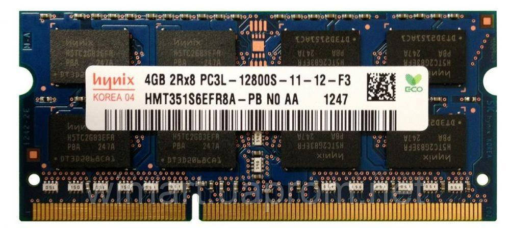 Оперативная память SoDIMM Hynix DDR3 4GB PC 1600 original 1.35V