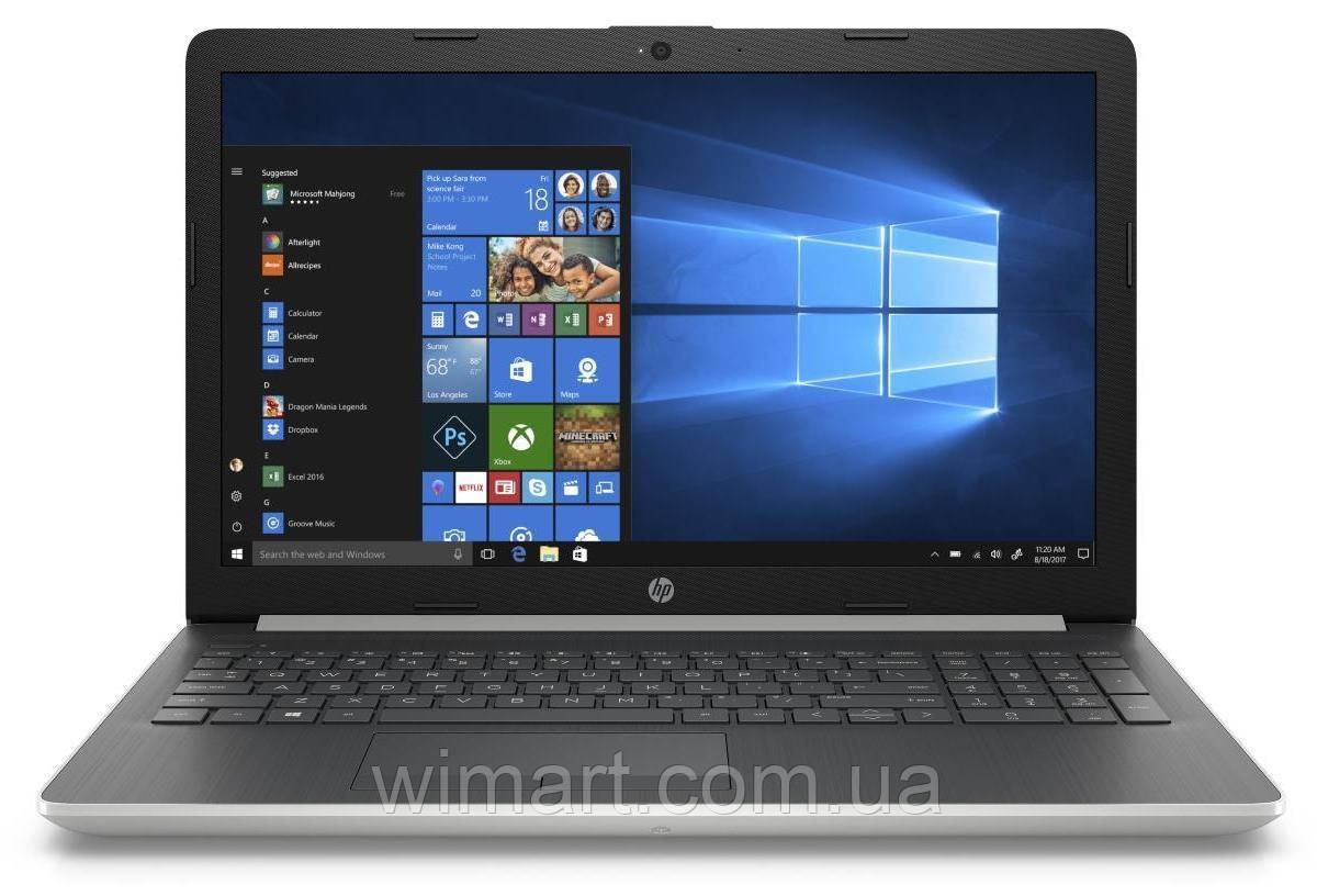 """Ноутбук HP 15-da0032wm 15.6"""" HD i3-8130U 2.2GHz 4GB RAM 1TB HDD Win 10 Home Silver"""