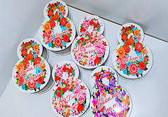 Коробочки с цветной печатью 8 марта