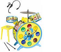 """Музыкальный инструмент """"Sponge Bob. Барабанная установка"""" с микрофоном SIMBA TOYS 9499495"""