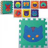 Килимок-мозаїка,  9 дет. тварини, EVA MR0356