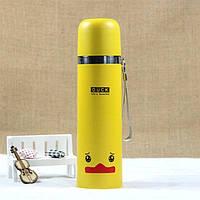 Термос металлический с чашкой Duck 500мл YellowТермосы в Украине