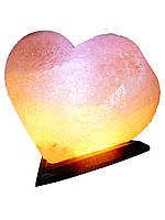 """Соляной светильник """"Сердце цветное"""" 4-5 кг"""