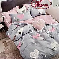 Постельное белье Евро размер Фланелевый комплект постельного белья Хорошее качество.