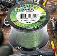 Рыболовные шнуры, Шнуры рыбацкие, Шнур для рыбалки, шнур Power Pro 1000 м (зелений) 0.18 mm-14 kg на розрыв!