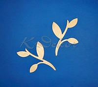 Ветка с листиками №2 заготовка для декупажа и декора