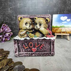 Подарочная копилка Мишки Тедди в сундуке 12 см