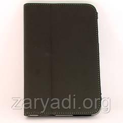 Чехол-книжка для Samsung P3100 Galaxy Tab 2 (7.0), кожаный, Серый /flip case/флип кейс /самсунг