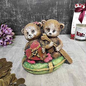 Подарункова скарбничка Ведмедика Тедді в човні 13 см