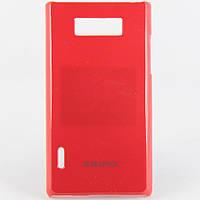 Чехол-накладка для LG L7, P700, P705, пластиковый, Buble Pack, Малиновый /case/кейс /лж, фото 1