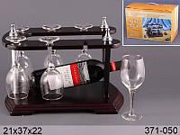 Минибар: подставка 37 см, 6 фужеров ed 371-050