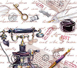 Подарунковий паперовий пакет ЧАШКА 16*16*8 см Телефон