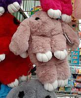 Меховая сумка - рюкзак Кролик. Детская сумка Кролик. Сумочка кролик. Меховая сумочка кролик. пудровый