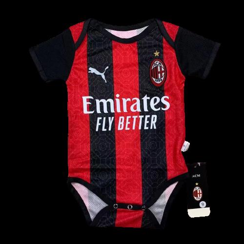 Детский бодик Милан черно-красный