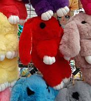 Меховая сумка - рюкзак Кролик. Детская сумка Кролик. Сумочка кролик. Меховая сумочка кролик. красный