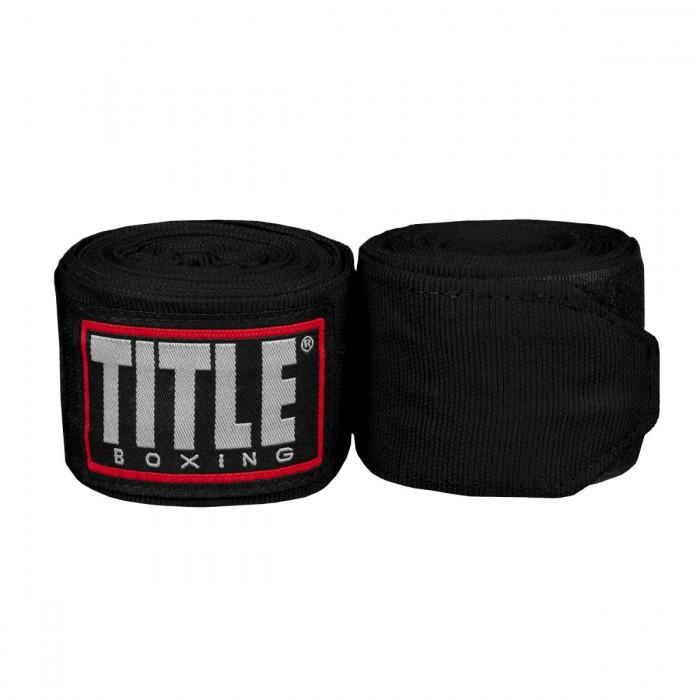 Бинты боксерские эластичные  TITLE Boxing Fight Back Semi-Elastic 4,5м Черные