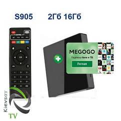 TV BOX  light |  2 16 Gb + MEGOGO Кино  и ТВ  | подписка 6 месяцев