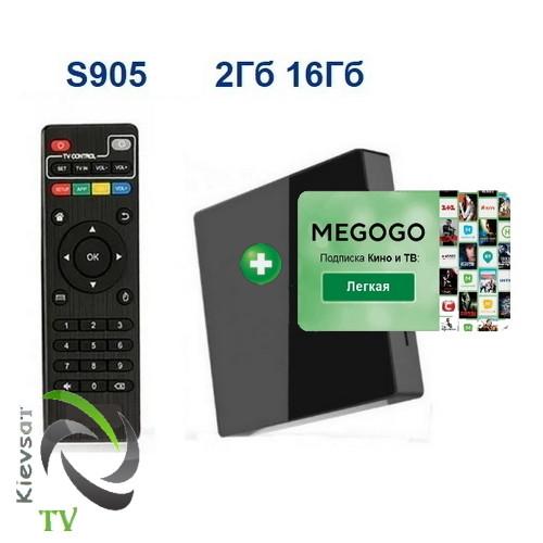 TV BOX  light |  2 16 Gb + MEGOGO Кино  и ТВ | подписка 12 месяцев