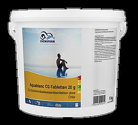 Активний кисень Chemoform Aquablanc O2 Tabs | таблетки по 20 гр | відро 5 кг