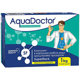 Флокулянт для басейну AquaDoctor SuperFlock | коагулянт в картушах 1 кг
