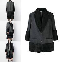 Пальто женское с мехом норки