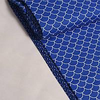 Хлопковая ткань Черепичка синяя