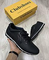 Кроссовки Кожа Clubshoes чёрные туфли