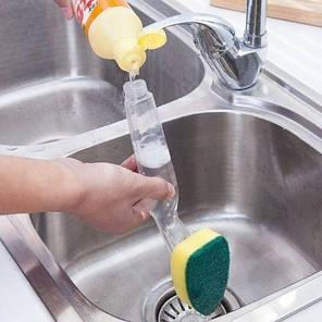 Губка для мытья посуды с емкостью для моющего средства, фото 2