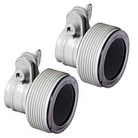 Intex 29061, Комплект из 2-х адаптеров, муфты-переходы для песчаных фильтров и бассейнов. D-38-32мм (10722,