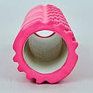 Масажний вал ролик для йоги масажу масажний круглий фітнесу ролер спина шия ребристий гімнастичний, фото 9