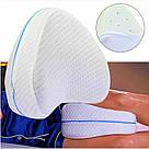Ортопедична подушка для ніг Leg pillow contour legacy з ефектом пам'яті комфортного сну memory анатомічні, фото 7