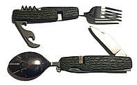 Мультитул: ложка, вилка, нож, открывашка, штопор YN06-2, фото 1