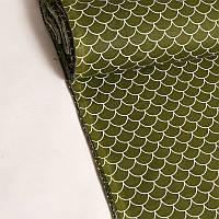 Хлопковая ткань Черепичка оливковая