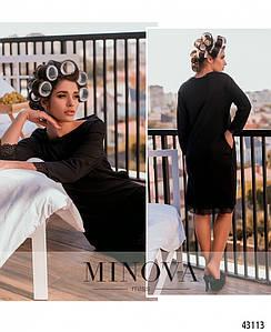 Домашнее платье №2090-черный
