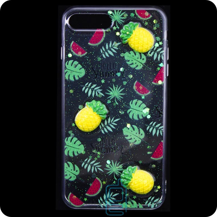 Чехол силиконовый 3D Apple iPhone 7 Plus, 8 Plus Ананас