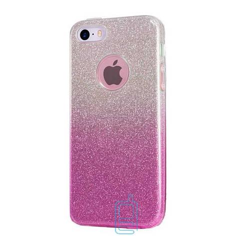 Чехол силиконовый Shine Apple iPhone 6 градиент розовый, фото 2