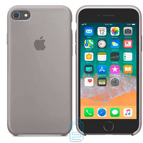 Чехол Silicone Case Apple iPhone 6, 6S светло-серый 23, фото 2