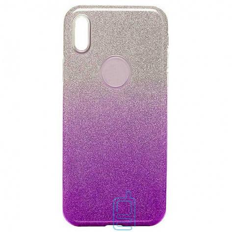Чехол силиконовый Shine Apple iPhone X, XS градиент фиолетовый, фото 2