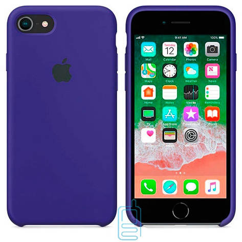 Чехол Silicone Case Apple iPhone 7, 8, SE 2020 синий 44, фото 2