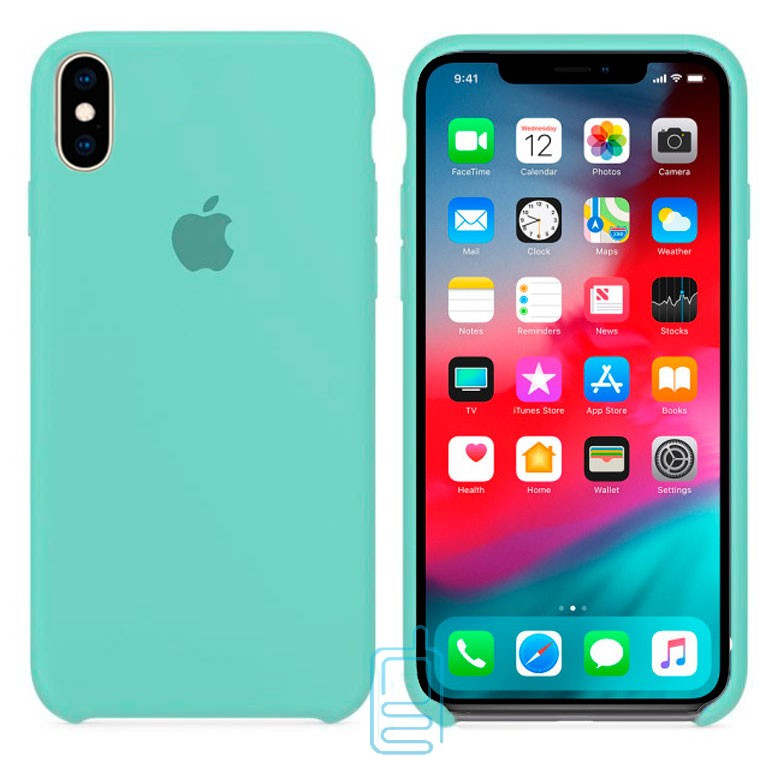 Чехол Silicone Case Apple iPhone XS Max бирюзовый 21