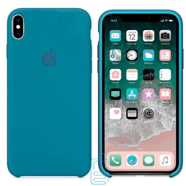 Чехол Silicone Case Apple iPhone XS Max темно-голубой 24